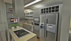 Cozinha americana: Cozinhas  por Atelier Par Deux