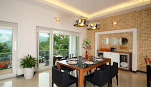 Salas de jantar modernas por Savio and Rupa Interior Concepts