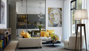 Salas / recibidores de estilo escandinavo por PRIVALOV design