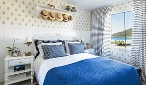 غرفة نوم تنفيذ Flavia Guglielmi Arquitetura