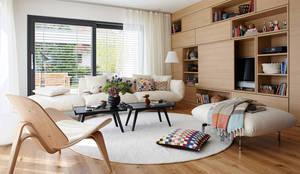 Projekty,  Salon zaprojektowane przez SchwörerHaus