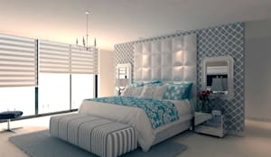 Dormitorio principal: Habitaciones de estilo moderno por Area5 arquitectura SAS