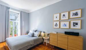 Dormitorios de estilo escandinavo por Espaço Mínimo
