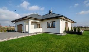 Realizacja projektu Ariel: styl nowoczesne, w kategorii Domy zaprojektowany przez BIURO PROJEKTOWE MTM STYL