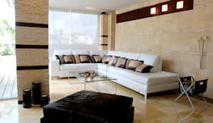 Pent House 505: Salas / recibidores de estilo moderno por Arq Renny Molina