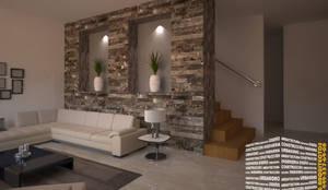 Projekty,  Korytarz, przedpokój i schody zaprojektowane przez HHRG ARQUITECTOS