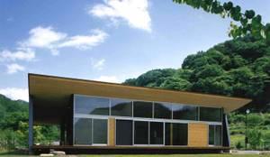 南側全景: 神成建築計画事務所が手掛けた家です。
