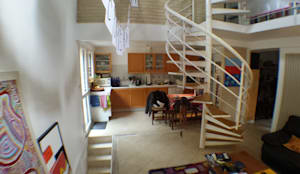Etat existant: Salon de style de style Moderne par Martin Schiller Design Studio