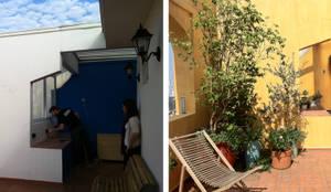 Antes e Depois 1: Terraços  por Renata Villar Paisagismo e Arranjos Florais