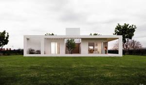 Vista fachada norte: Casas unifamiliares de estilo  por 1.61 Arquitectos