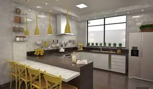 Cocinas de estilo moderno por Ao Cubo Arquitetura e Interiores