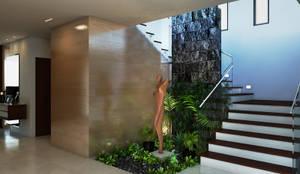 modern Corridor, hallway & stairs by Interiorisarte
