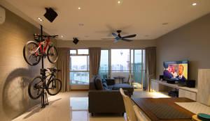 BTO @ Punggolin Hotel Style: modern Living room by Designer House