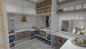 scandinavian Dressing room by Studio M Arquitetura