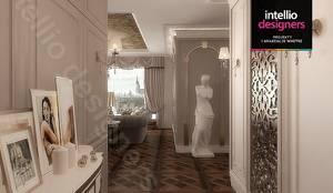 Projekt ultraluksusowego apartamentu w Krakowie: styl , w kategorii Korytarz, przedpokój zaprojektowany przez Intellio designers