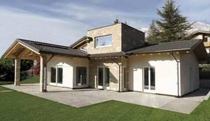 Casas de estilo rústico por Marlegno PREFABRICATED WOODEN BUILDINGS