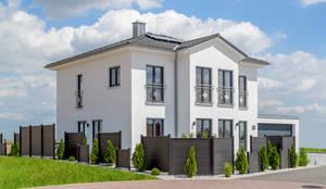 Musterhaus modern walmdach  Stadvilla mit Erker und Walmdach von Albert-Haus Musterhaus ...