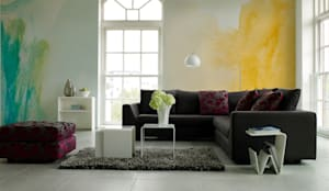 Colorful blurs: minimalistic Living room by Pixers