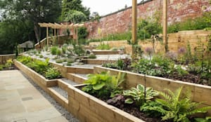 Modern Garden with a rustic twist: modern Garden by J B Landscapes LTD