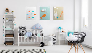 Ferris Wheel: scandinavian Nursery/kid's room by Pixers