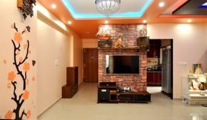 Salas / recibidores de estilo moderno por Kriyartive Interior Design