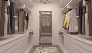 ESA PARK İÇ MİMARLIK – İLKO SİTESİ- ÖRNEK VİLLA  :  tarz Giyinme Odası, Modern