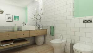 skandinavische Badezimmer von Homestories