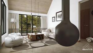 ESTANCIA: Salas de estilo  por FERAARQUITECTOS
