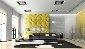 3D Panels aus Gips :  Wohnzimmer von Loft Design System Deutschland - Wandpaneele aus Bayern