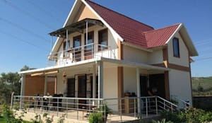 TUNA PREFABRİK – Çift Katlı Prefabrik Konut:  tarz Evler
