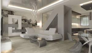 Ristrutturazione soggiorno moderno di geometrie abitative for Case particolari interni