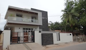 North elevation:  Houses by Hasta architects
