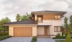 Maisons de style de style Moderne par BIURO PROJEKTOWE MTM STYL