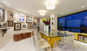 Decoração de Apartamento   Jardim de Verssailles   Salvador-Ba: Salas de jantar modernas por Maria Julia Faria Arquitetura e Interior Design