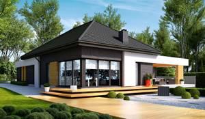 moderne Huizen door HomeKONCEPT   Projekty Domów Nowoczesnych