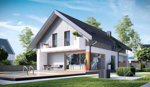 Projekt domu HomeKONCEPT-11- wizualizacje: styl nowoczesne, w kategorii Domy zaprojektowany przez HomeKONCEPT   Projekty Domów Nowoczesnych