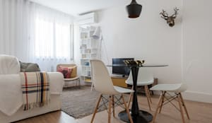 Zona de Refeições_Remodelação Apartamento_Ajuda | Lisboa PT: Salas de jantar  por OW ARQUITECTOS lda | simplicity works