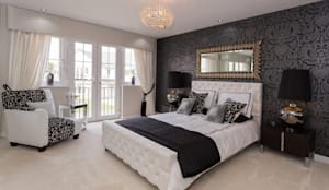 Modern Monochrome: classic Bedroom by Graeme Fuller Design Ltd