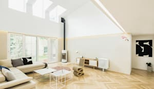 Salon de style de style Moderne par 지오아키텍처