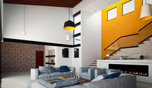 Salas / recibidores de estilo mediterraneo por Laboratorio Mexicano de Arquitectura