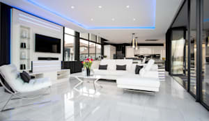 ULTRA MODERN RESIDENCE:  Living room by FRANCOIS MARAIS ARCHITECTS