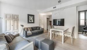 66 metri quadri: Soggiorno in stile in stile Moderno di BRANDO concept