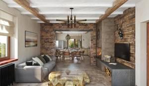 country Living room by Дизайн студия Алёны Чекалиной