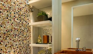 Projekty,  Łazienka zaprojektowane przez Cris Nunes Arquiteta