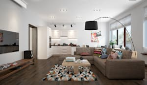 scandinavian Living room by design studio by Mariya Rubleva