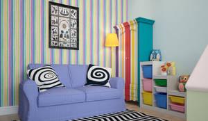 townhouse in scandinavian style: scandinavian Nursery/kid's room by design studio by Mariya Rubleva