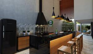 Casa BT : Cozinhas modernas por canatelli arquitetura e design