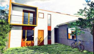 CASA NH: Casas de estilo moderno por NidoSur Arquitectos
