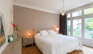 slaapkamer /  master bedroom: moderne Slaapkamer door Aangenaam Interieuradvies