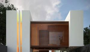 Casa Viento : Casas de estilo minimalista por Fermin de la Mora